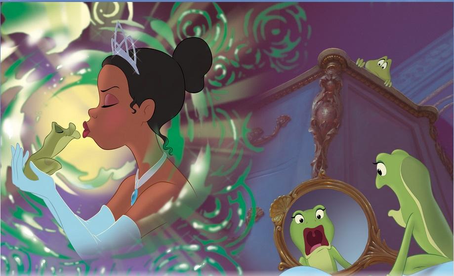 Rare Disney Princess And The Frog Reversible Tiana African